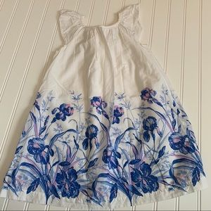 Gap white dress with floral print size 4 GUC